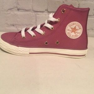 Girl's Converse All Star Hi-Top Sneakers, Sz 13